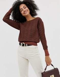 river-island-river-island-off-the-shoulder-jumper-in-brown-print-4SYEY7LAa2rZ3y2svdr7r-300