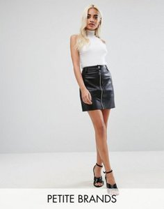 river-island-petite-river-island-petite-leather-look-zip-front-mini-skirt-cFU3L5eXe2y1M7MZyH4oJ-300