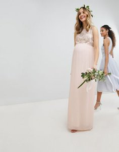 tfnc-maternity-tfnc-maternity-maxi-bridesmaid-dress-with-soft-floral-sequin-top-aHYESEsYd2rZvy3xZdD5P-300