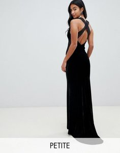 tfnc-petite-tfnc-petite-velvet-maxi-dress-with-cross-back-and-inserted-lace-in-black-YtU2hv9Qu2y177NVkHi5w-300