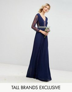 tfnc-tall-tfnc-tall-pleated-maxi-dress-with-long-sleeves-and-lace-inserts-with-embellished-waist-HqMvNvVzc2SwvcoKLqLDU-300