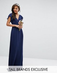 tfnc-tall-tfnc-tall-wedding-v-front-maxi-dress-with-frill-sleeve-rURejKbJGSJSd3znzgY-300