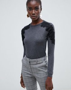 warehouse-warehouse-jumper-with-lace-shoulder-detail-in-grey-UpYjeY69A2rZdy2vFdZEx-300