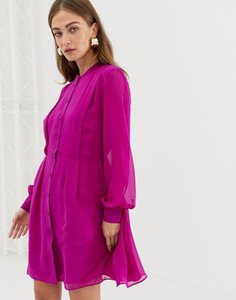 warehouse-warehouse-shirt-dress-with-grandad-collar-in-bright-pink-zfQyFuL3w2hytsbrb48nF-300