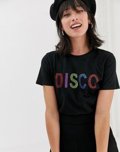 warehouse-warehouse-t-shirt-with-embellished-disco-slogan-in-black-icMQRhm4S2SwTcqYEqo7e-300