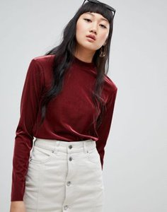 weekday-weekday-ribbed-velvet-high-neck-top-in-burgundy-UoVSD5tok2bXwjFg2Q4z1-300