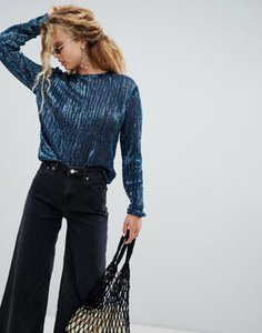 weekday-weekday-sequin-long-sleeve-top-in-petrol-blue-WiMv2X1Us2SwRcp9Kq2kY-300