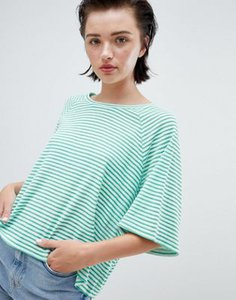 weekday-weekday-textured-stripe-t-shirt-in-green-and-white-stripe-6zQTML7XV2hyDscAD4qub-300