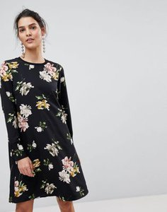 y-a-s-y-a-s-floral-mini-shift-dress-with-sleeve-rib-detail-in-black-KxQUoc4fD2hyLsaYh4nQX-300