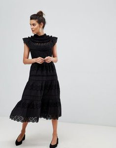 y-a-s-y-a-s-high-neck-lace-deail-midi-dress-in-black-ZUaP43iDJ2V4ybvZikF5R-300