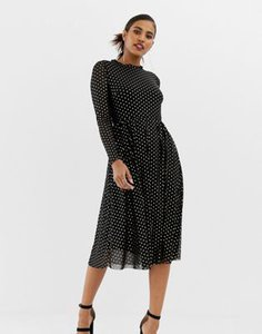 y-a-s-y-a-s-metalic-polka-dot-midi-dress-in-black-NDX5vJVUx2E3HM9feXp7t-300