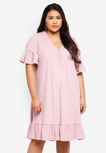lost-ink-plus-rib-swing-dress-with-frill-hem-avZ7wbkbYvzFL6UKBbdkp78z2N869xEL2d5K-300