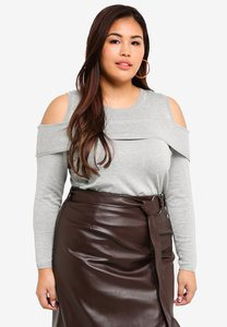lost-ink-plus-plus-size-cold-shoulder-jumper-N2W5nZw6VcCL11qiV6j2VtNe2Q57vhANbkGd-300