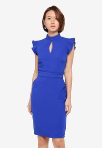 paper-dolls-high-neck-fluted-keyhole-dress-z6hjudavtpVcXUHHPVt1BXAp2cexhLUprzwF-300