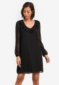wallis-petite-ruffle-neck-shift-dress-xhgP1vwRRgfXppNZYaZPh5jiEtH2rQj79-300