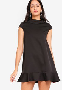 zalora-mock-neck-dress-with-ruffle-GvCFu9gBZMUy3WNTUi99zyuy3ktMtw48UyHU-300