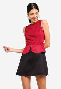 zalora-peplum-fit-and-flare-dress-5gat3dTjiPKFCzCoJt1YyKjy2n7GxXt2cPH7-300