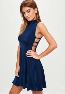 missguided-navy-slinky-cut-out-side-skater-dress-fHV3GyggGzDbVUGhiejDqgB5S1x-300