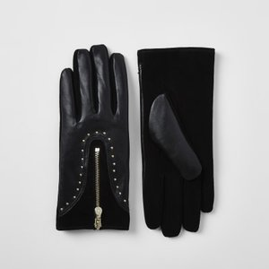 river-island-black-leather-studded-zip-gloves-s3muWcYHzNyP2nVd34SSTZQ11ukdA-300