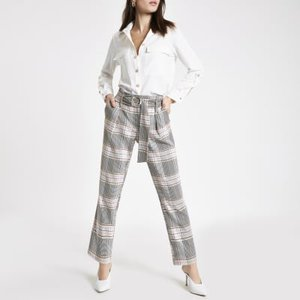 river-island-pink-check-belted-tapered-trousers-1gnELTHxJnsG5vY3744e8oRPeYt8G-300