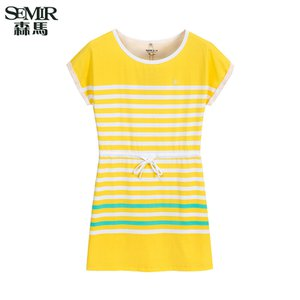 semir-semir-summer-new-women-korean-casual-stripe-cotton-crew-neck-short-sleeve-shift-dresses-yellow-jFbvVf7miQcCxMoAgBKJVSFEW69Rkw82fqPWDgp3WA2QyJ9BK5r-300