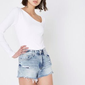river-island-mid-blue-distressed-high-waisted-shorts-HTsVGUYficwRf5XWG4LvHLLxE4BYh-300
