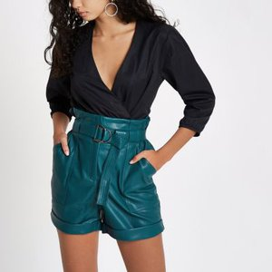 river-island-blue-faux-leather-high-waisted-paperbag-short-oJrFLZ1mHQFaz2iTh48wQBLvgojdT-300