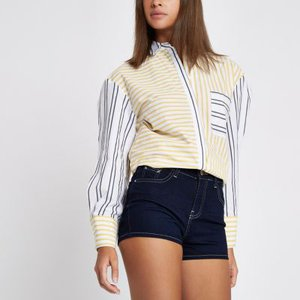 river-island-dark-blue-high-waisted-denim-shorts-FsnFWBQCytA3zWwLH4UUfmMn221tr-300