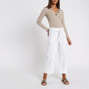 river-island-white-denim-belted-culottes-G3xq2ogUSSioLrqgA4C87uK9S7SCs-300