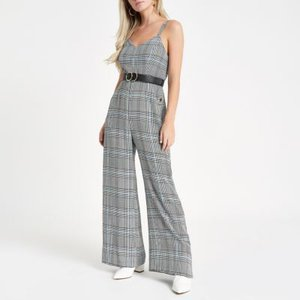 river-island-petite-grey-check-popper-side-jumpsuit-uDv32EpjT6X8P9Nyv4A7ohMPRyvw9-300