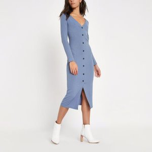 river-island-light-blue-ribbed-button-front-bodycon-dress-UCnCTA5TRcfEhcffJ4fywiP4ZAuYD-300