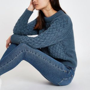 river-island-blue-cable-knit-long-sleeve-jumper-pDvv2op2TUX8P1Tyn4AjghMPRyKwx-300