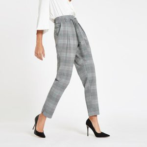 river-island-grey-check-belted-tapered-trousers-LNwFxvM4tGDy3Ui1v3PturMSyEwsr-300