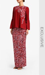 poplook-premium-flare-sleeve-blouse-and-skirt-set-in-deep-red-YGmtXF9a8Fd62Hm1aPRb9mL6tfthRu-300