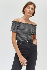 next-warehouse-black-bardot-cheesecloth-stripe-top-H2MwMubNt2LrEXk8mhq29-300
